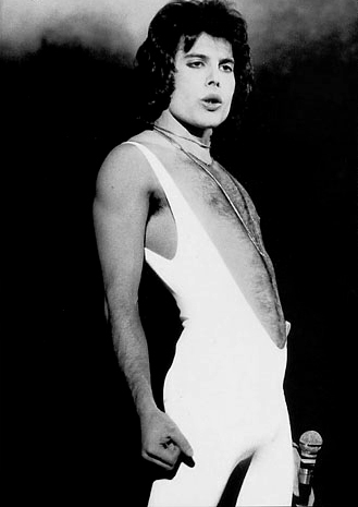 Freddie Mercury. A Man who knew how to rock in bib tights. Sort of.