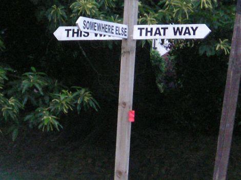 A wonderfully apt sign in Blackheath, Surrey