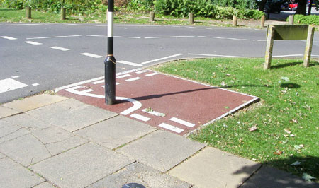 Can you tell what it is yet? (Picture from Weird Cycle Lanes of Brighton & Hove)