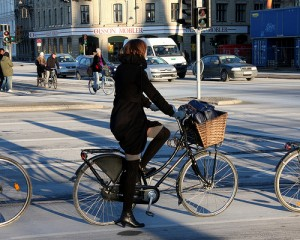 Stylish Woman On Bicycle. Very bad apparently (Photo: Copenhagen Cycle Chic)