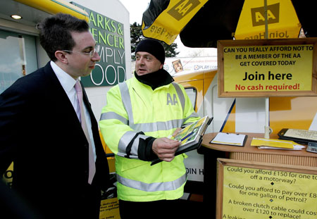 '...yes sir, I even have to wear High-Viz to operate this stand in case you walk into me whilst I'm holding a biro'