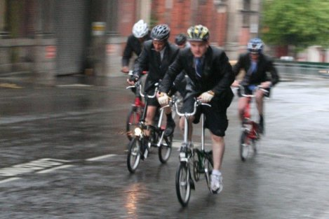 Me at the front at an earlier Smithfield Nocturne after stampeding through the pack like Bonnie Langford on Amphetamines