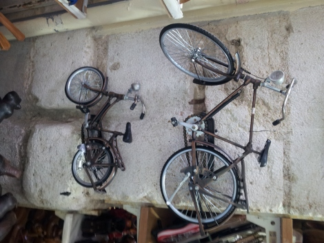 These bikes make marvellous hanging ornaments. They are especially handy if you are from Lilliput or you are using British cycle infrastructure